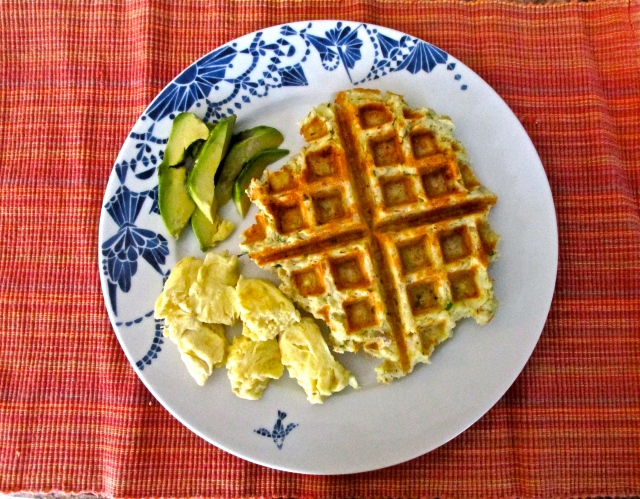 Cheesy Potato Waffles 2