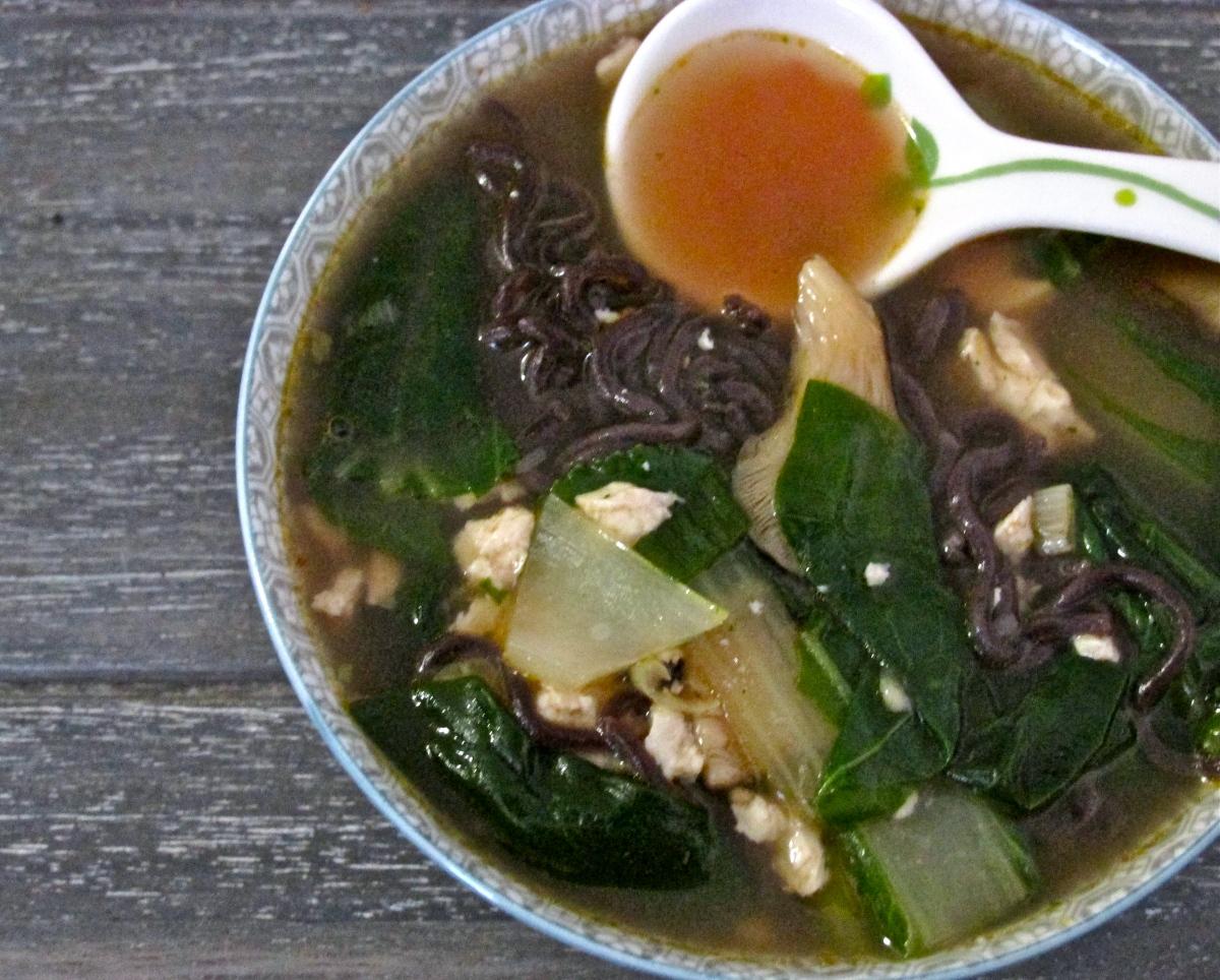 Asian Fusion Noodle Soup (gluten free, vegan)
